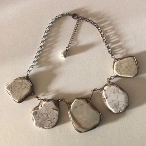 Wire Wrapped Stone Statement Necklace